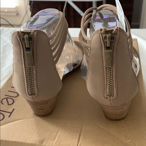 me too Shoes - Nude low platform strappy sandal
